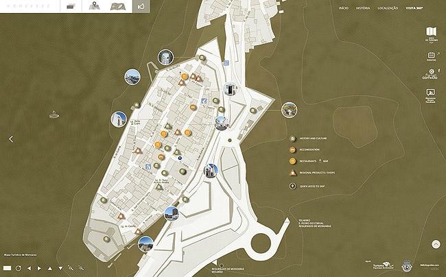 mapa de monsaraz Monsaraz 360, visita interativa a uma das mais belas vilas de  mapa de monsaraz