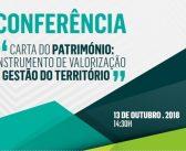 """Conferência """"Carta do Património: Instrumento de Valorização e Gestão do Território"""""""