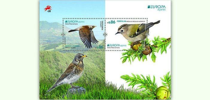 Aves nacionais em emissão filatélica dos CTT