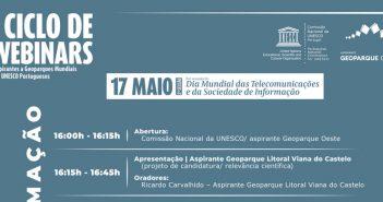 2ª sessão do I Ciclo de Webinars sobre os aspirantes a Geoparques Mundiais da UNESCO Portugueses